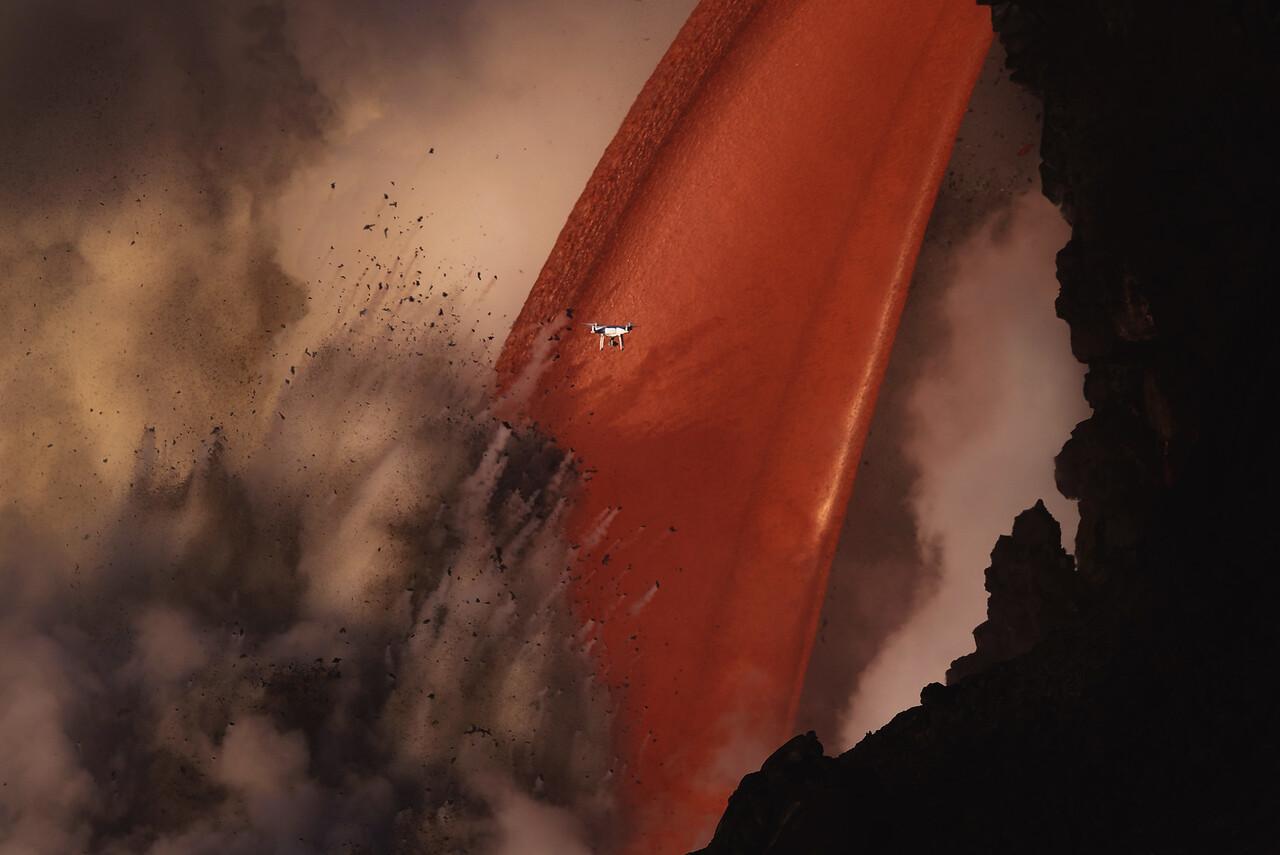 Drone Vs. Lava