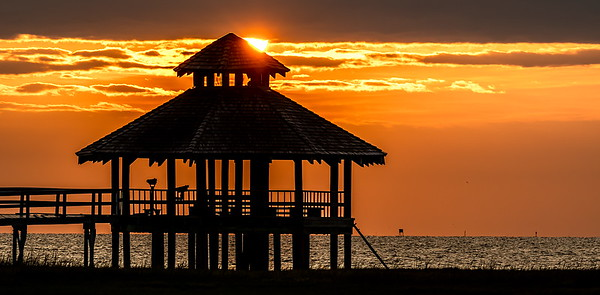 Sunrise at the Lighthouse Beach in Port Lavaca