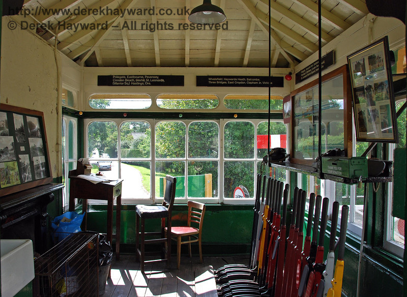 The interior of Isfield signal box, looking south. 02.09.2007