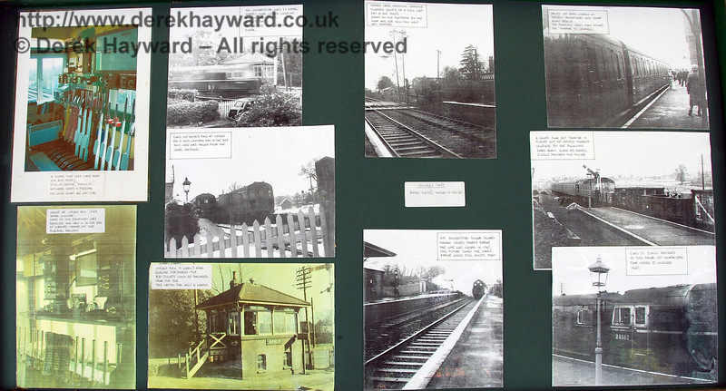 There are a number of interesting display boards in Isfield Signal Box. 02.09.2007