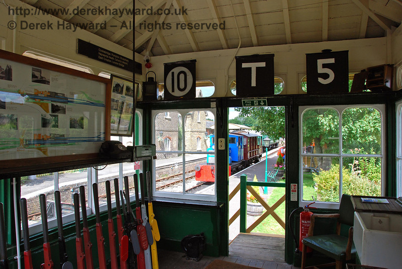 The signalman's view north out of Isfield signal box. 02.09.2007