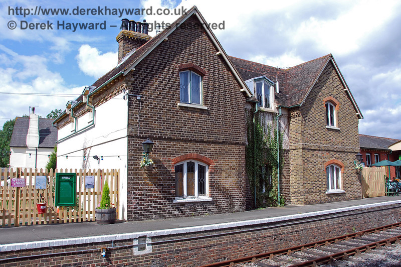 The station houses which form part of Platform 1 at Isfield. 02.09.2007