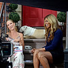 "COBBLE HILL, BROOKLYN, NEW YORK - JULY 15: ""On the stoop"" with Cat Greenleaf and actress Laverne Cox on July 15, 2015 in Brooklyn, New York. (Photo by Lukas Maverick Greyson)"