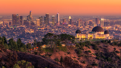 LA Skyline at sunset from Griffith Observatory