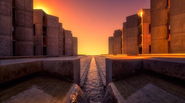 Salk Institute at sunset
