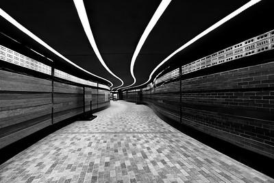 underground subway tunnel in montreal