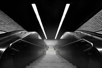 Underground Staircase in Montreal