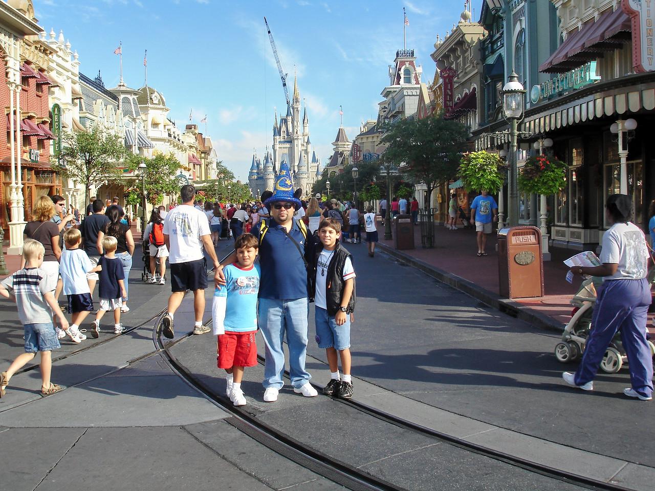 entrando a Magic Kingdom
