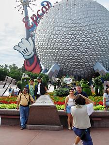 el icono de Epcot, en Disney World. Orlando, Florida Octubre 2006