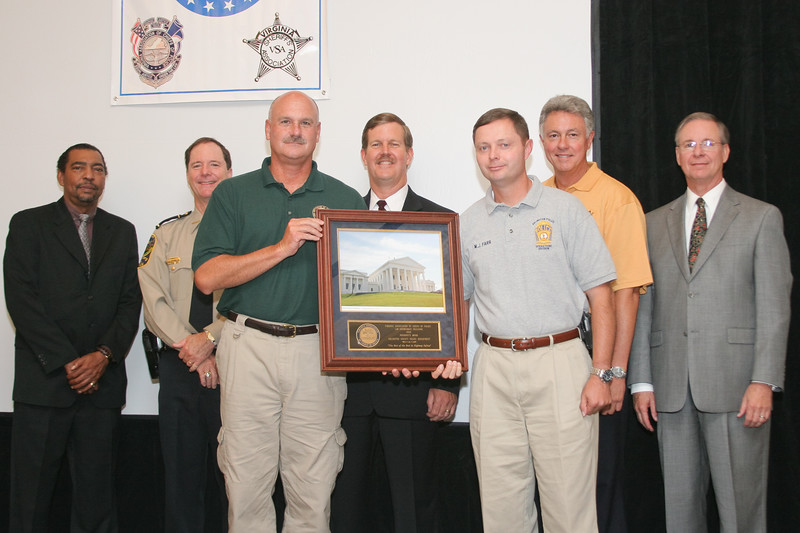 <b>IMG_70285</b><br>The 2006 Virginia Law Enforcement Challenge President's Award went to the Arlington County Police Department for the best overall traffic safety program.