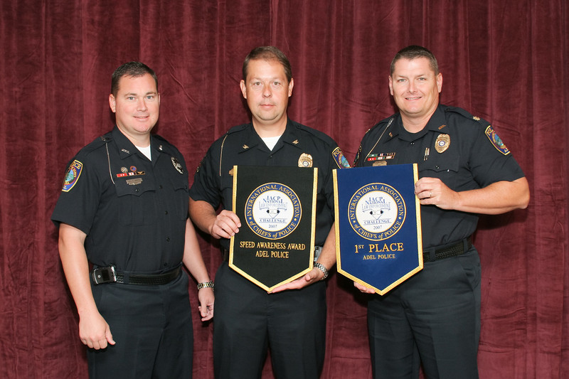 2006 National Law Enforcement Challenge --<br /> Speed Awareness Award: Adel (GA) Police Department