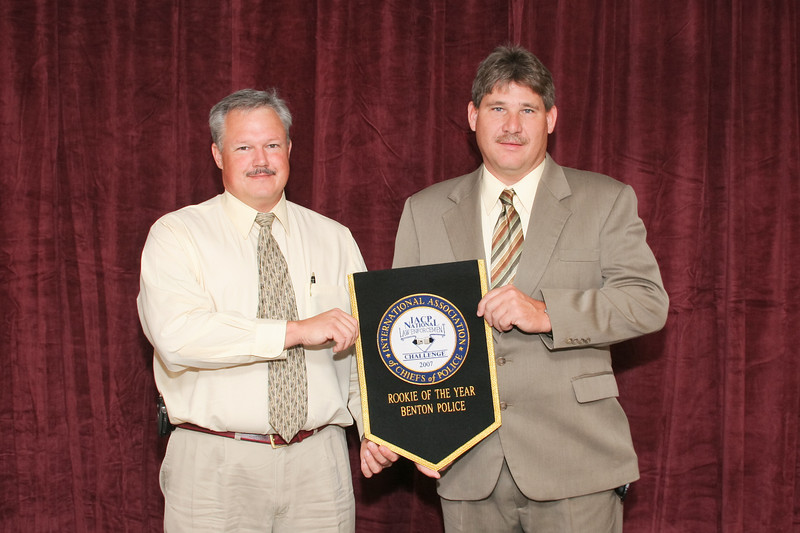 """2006 National Law Enforcement Challenge --<br /> """"Rookie of the Year Award"""" for Best First-Time Entry: Benton (TN) Police Department"""