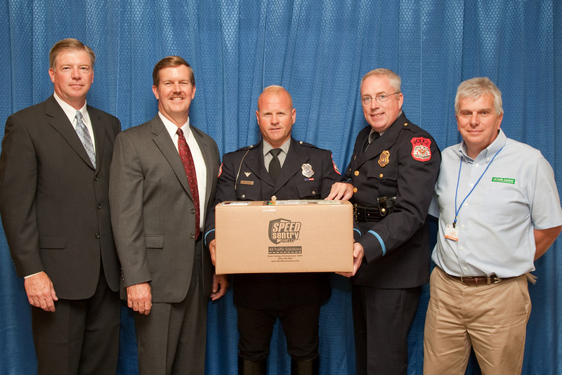 Harrisonburg Police Department also won the drawing for a SPEEDSentry® SHIELD speed display, donated by All Traffic Solutions