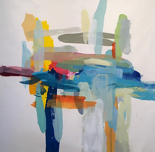 "Interaction 1-Hibberd, 40""x40"" on canvas"