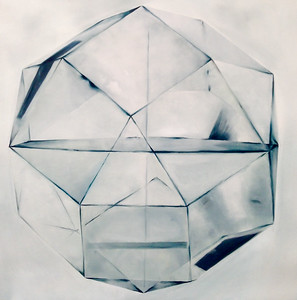 "White Sphere-Haxton, 40""x40"" on canvas"