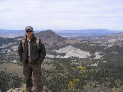 Utah Division of Wildlife Resources conservation officer Micah Evans in his outdoor office.  Photo by Utah Division of Wildlife Resources