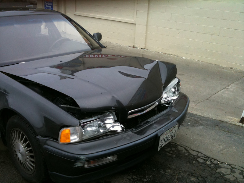 The Black Acura Bites it, Jan 7, 2011
