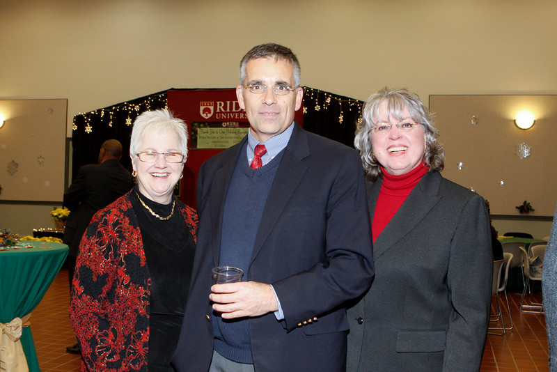 Taken at the staff holiday reception in the Cavalla Room in the Bart Luedeke Center at Rider University in Lawrence, N.J. December 8, 2010. (Photo by Cie Stroud)