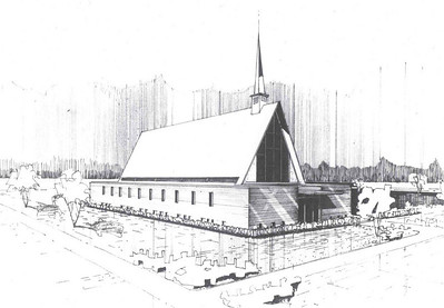 An artist's rendition of J. Goodner Gill Chapel.