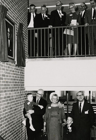 The dedication event for Moore Library, named for Franklin F. Moore, Rider's third president.