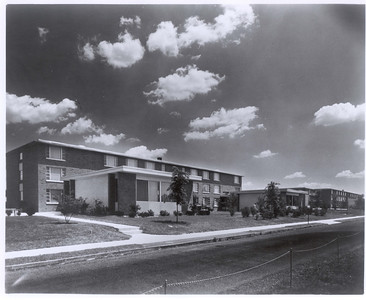 Front view of Kroner Residence Hall in 1962.