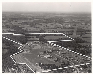 A 1965 aerial view of Rider College.