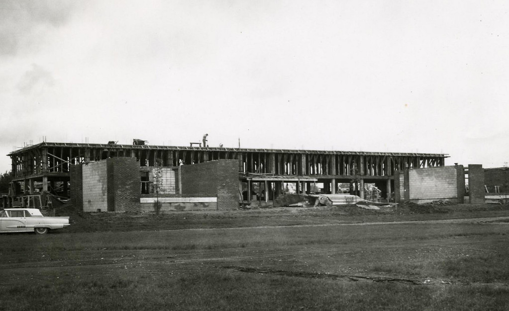 Construction of Ziegler Residence Hall.