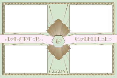 Art Deco Pink 4x6