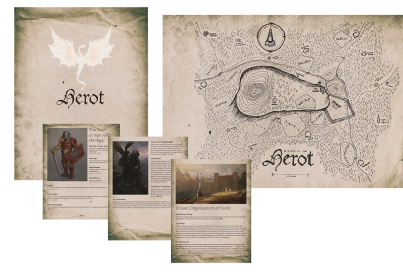 Player booklet for my Herot campaign