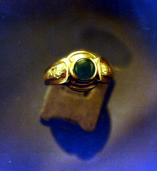 Another bezel set cabochon emerald.
