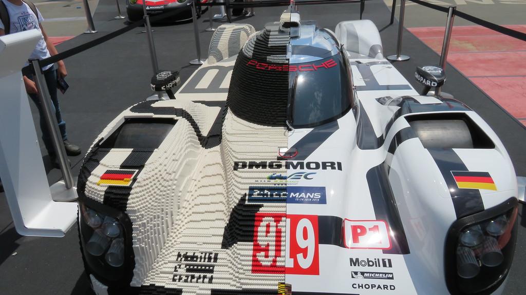 Porsche 919 display car with Lego