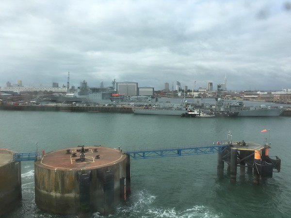 Leaving Portsmouth harbour for Caen