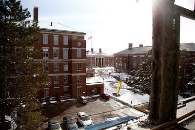 View from 4th floor faculty offices.  ©Laura Brophy for the University of Rochester
