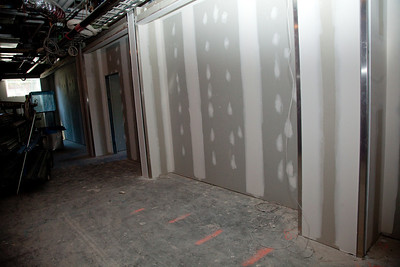 Level 1 hallway will be lined with benches outside of classrooms