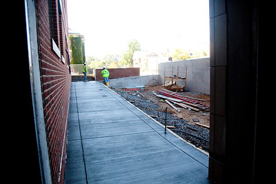 One of two accessible entranceways into Level 1, where 14 out 17 classrooms are located