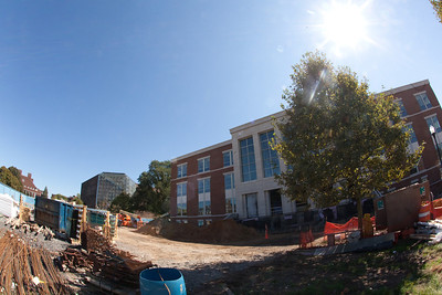 LeChase Hall, September 2012. Landscaping and construction area cleanup begins.