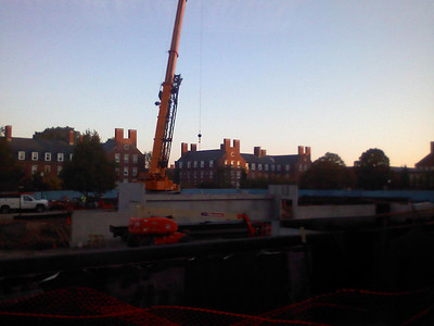 The crane comes to campus