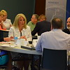 (l to r) Dena Turner, Kristen Butcher, Debbie Prodehl, Tim Ryan and Jim Waller share their opinions about a case study.