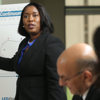 LED FastStart's YaSheka C. Adams, Ph.D, CIR<br /> Sr. Manager Talent Management, conducts a training session