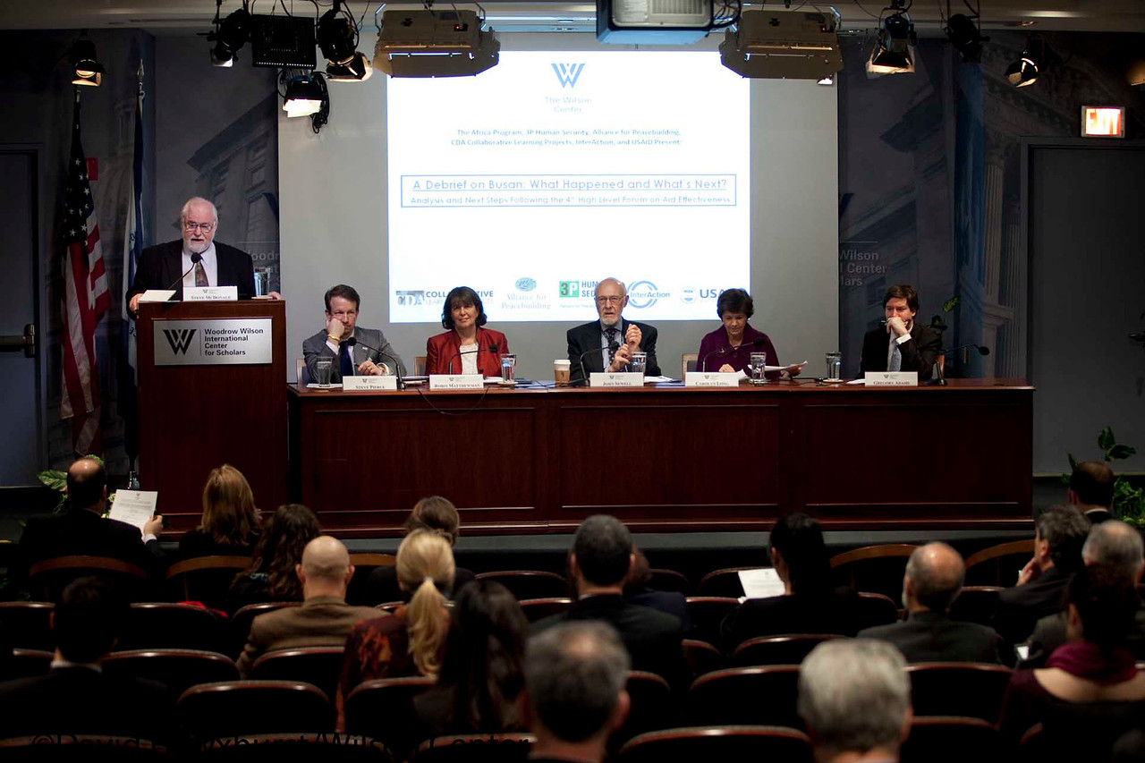 A Debrief on Busan: What Happened and What's Next? Anaylsis and Next Steps Following the 4th High Level Forum on Aid Effectiveness<br /> <br /> Speaker(s): Nancy Lindborg, Robin Matthewman, Carolyn Long, Greg Adams