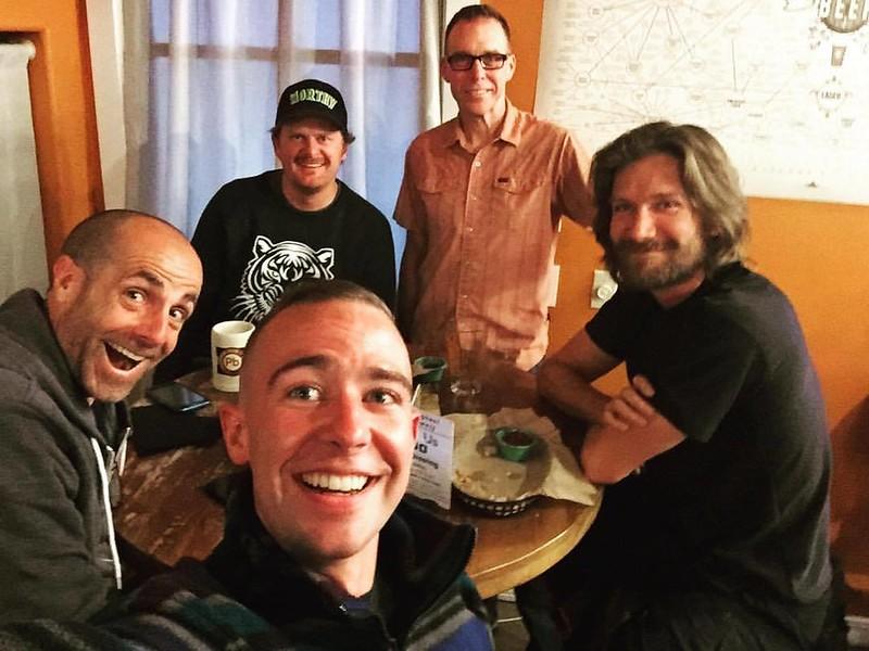 From L to R: Elden N, Floyd Landis (back), Nick, Don B, Dave Zabriskie
