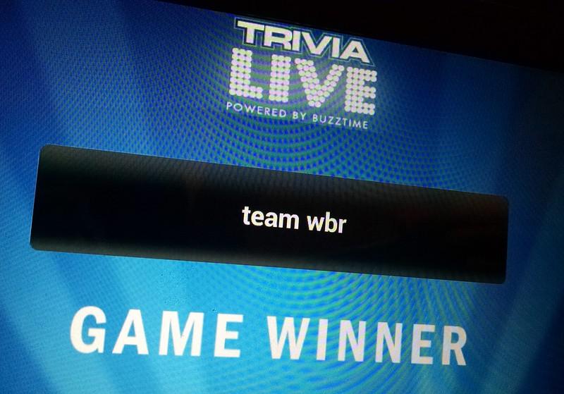 Pb trivia night winners: David H, Lisa N, Chris D, Dave T, Jeff D