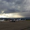 Leadville airport just before screening of Blood Road in Hangar One