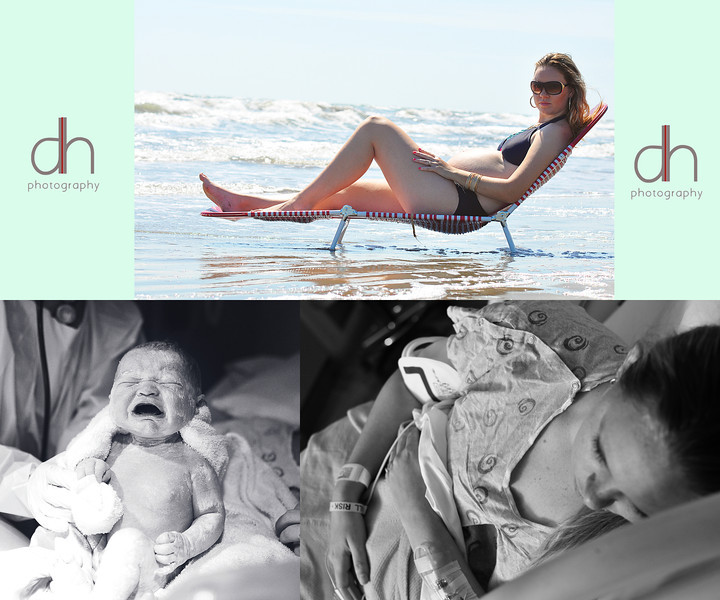 This mommy and I had the best of time on the beach for her maternity session. I also, got to be apart of her little lady coming into the world.