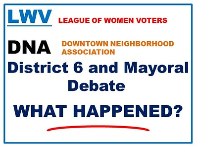 League of Women Voters District 6 and Mayoral debate