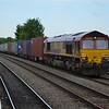 66069 4O43 Birch Coppice - Southampton W Docks passes Leamington Spa