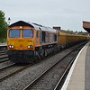 66750 6M26 Eastleigh - Mountsorrel passes Leamington Spa