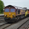 66065 + 70808 6W06 Hinksey - Bescot passes Leamington Spa