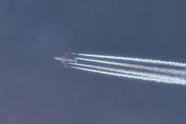 High-flying plane