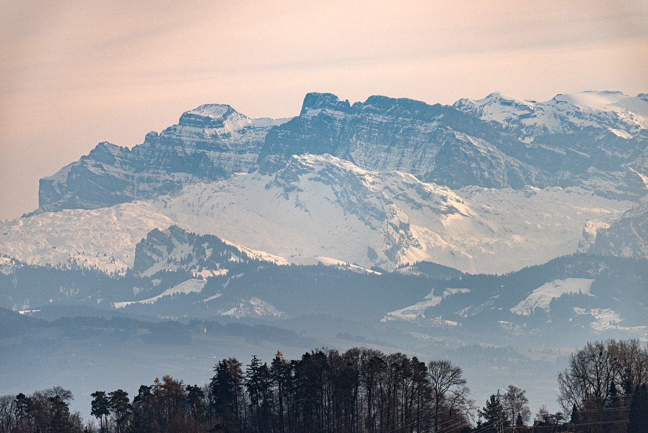 The Alps… viewed from Zürich!